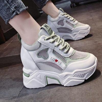 韓國KW美鞋館-(預購)大碼中年輕盈防老爺鞋運動鞋(彈力 輕量  耐磨 休閒鞋)(共2色)