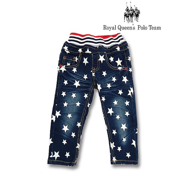 星星印花壓皺彈性牛仔褲 / RQ POLO / 小童 / 秋冬款童裝[9642-8]
