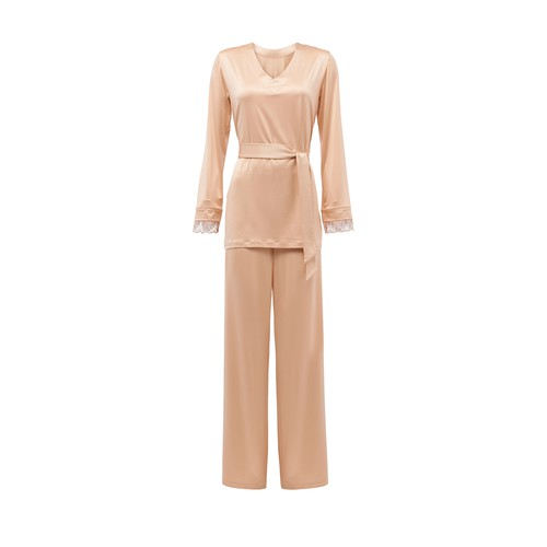 Pyjamas in stretch viscose and tulle