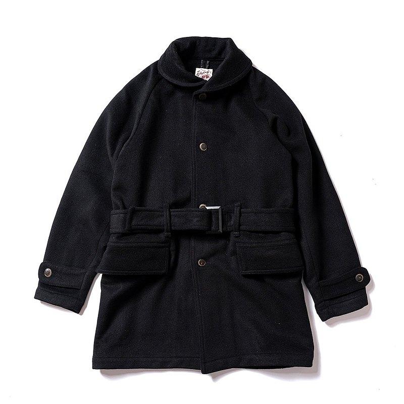 W.Gents Coat 羊毛長板大衣 - 黑色 Black