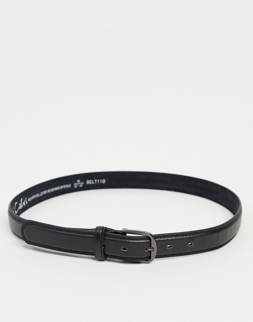 Thomas Calvi skinny belt-Black