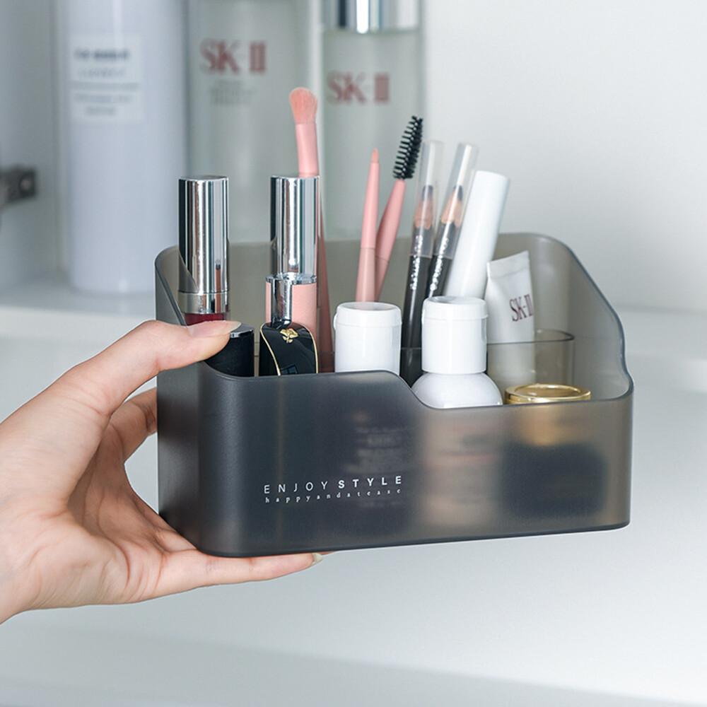 荷生活霧面收納盒 浴室鏡櫃收納 桌面收納盒 化妝品保養品收納