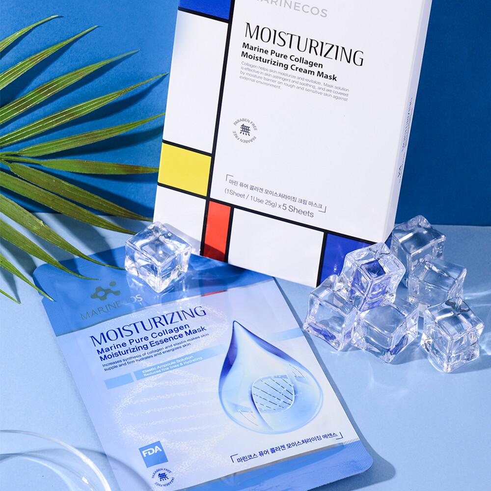 kesi:beauty韓國marinecos 海洋膠原蛋白保濕精華面膜5入/盒
