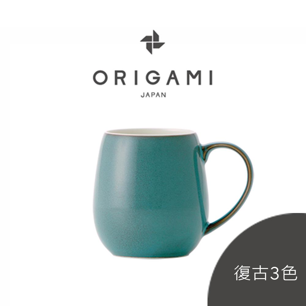 日本ORIGAMI 摺紙咖啡 barrel aroma 馬克杯 復古3色系列 320ml (可搭配杯盤)(預購品項3月中出貨)