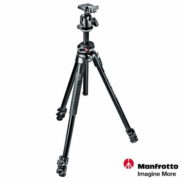 【南紡購物中心】Manfrotto 290 DUAL 豪華三節腳架 球型雲台套組 MK290DUA3-BH
