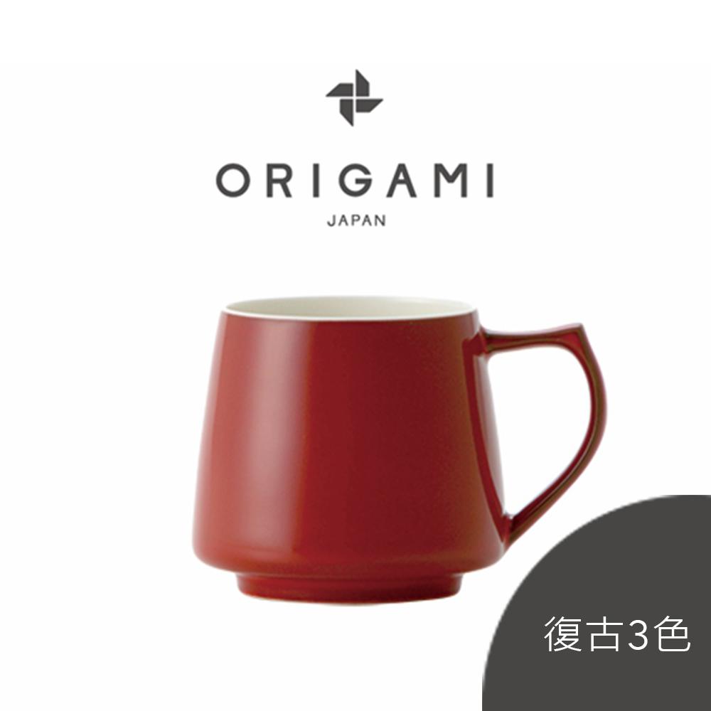 日本ORIGAMI 摺紙 Aroma 咖啡馬克杯 (復古3色系列) (320ml) (可搭配杯盤) (預購選項3月中到貨)