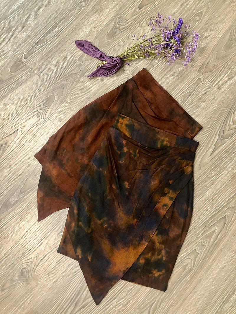 迷彩三角巾窄裙