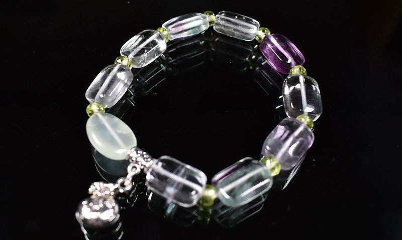彩色瑩石設計手鍊