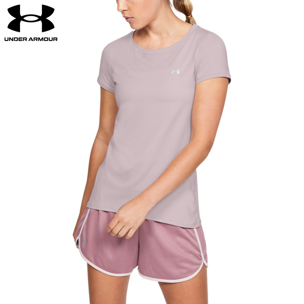 【UNDER ARMOUR】女 Armour HG短T-Shirt(1328964-667,Fitted)