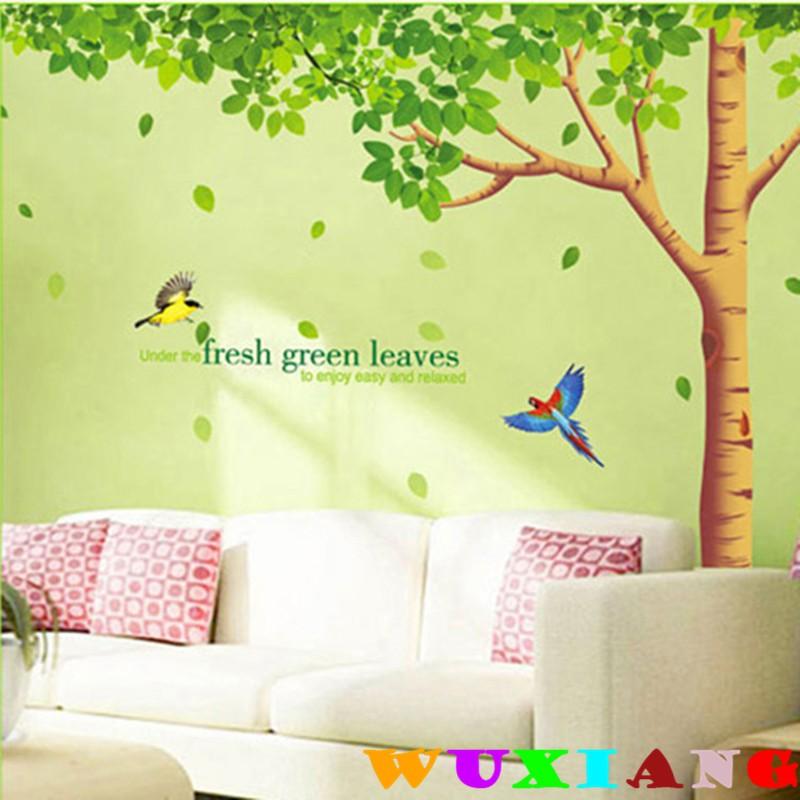 【五象設計】房間裝飾 壁貼 貼紙 窗貼 超大 清新綠葉 家居裝飾