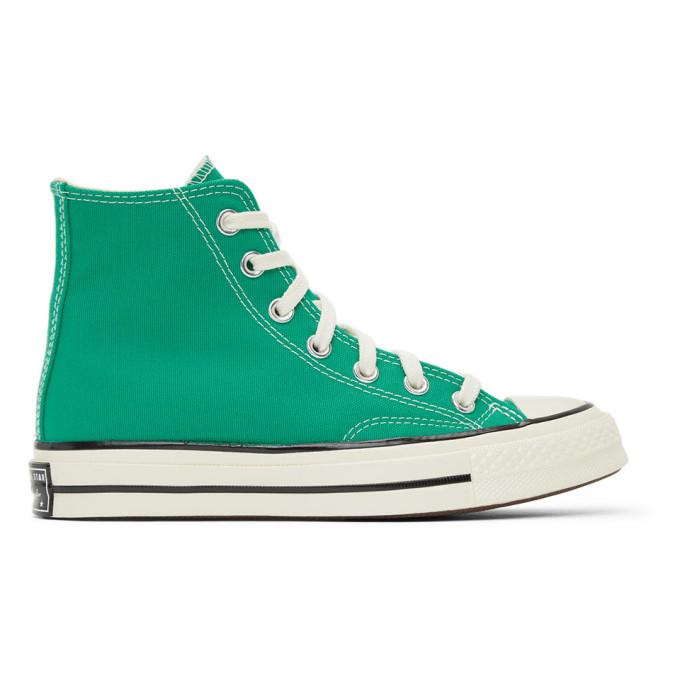 Converse 绿色 Chuck 70 高帮运动鞋