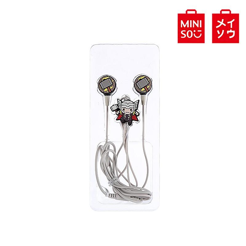 【MINISO名創優品】漫威-滴膠造型入耳式耳機(含麥克風), 型號;TSD-M02,雷神