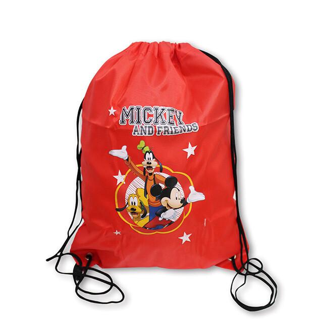 美國熱銷卡通mickey&friends輕便束口袋背包
