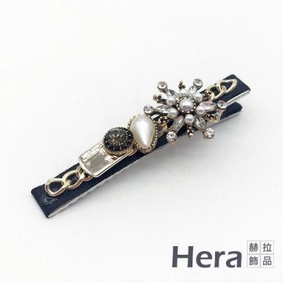 Hera 赫拉 韓國甜美雪花水鑽瀏海夾