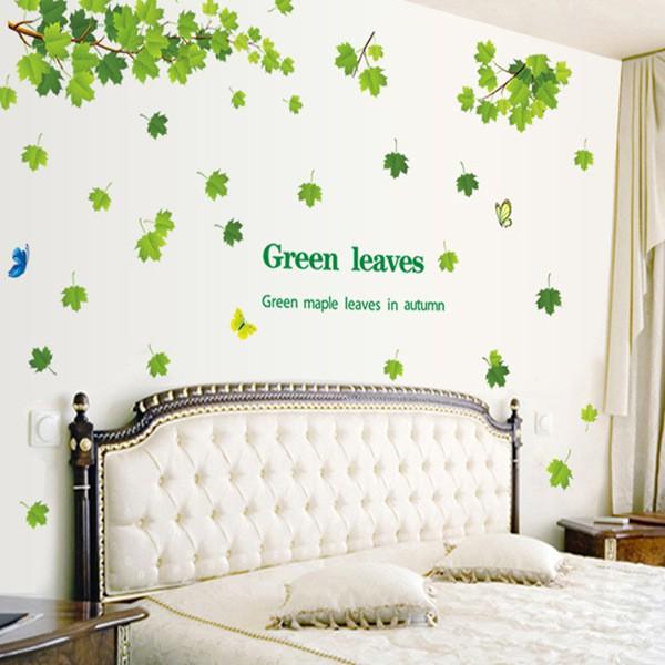 【五象設計】花草樹木114 DIY 壁貼 清新綠葉 客廳臥室 牆貼紙 逼真 組合牆貼 牆壁藝術 熱愛自然