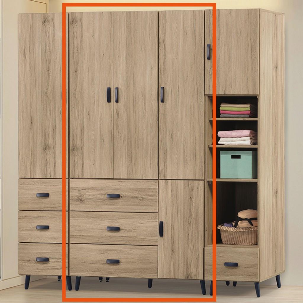 【117cm衣櫃-K24-78】木心板 推門滑門開門 衣服收納 免組裝 【金滿屋】