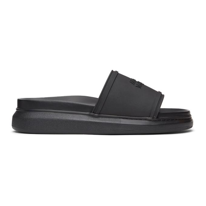 Alexander McQueen 黑色 Hybrid Signature 阔型拖鞋