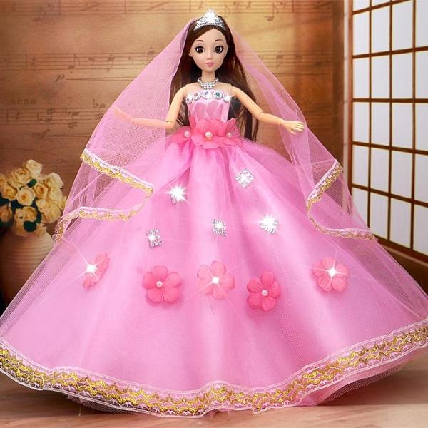 芭比娃娃 怡熙洋娃娃套裝兒童女孩玩具大號婚紗公主仿真精致單個超大布【快速出貨八折搶購】