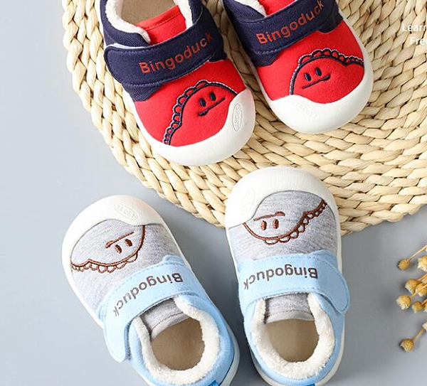 學步鞋 學步鞋男兒童棉鞋0-1-3歲2兒童女童春季軟底防滑加絨加厚鞋子【快速出貨八折下殺】