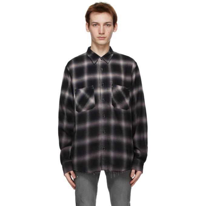 AMIRI 黑色 Core Shadow Plaid 衬衫