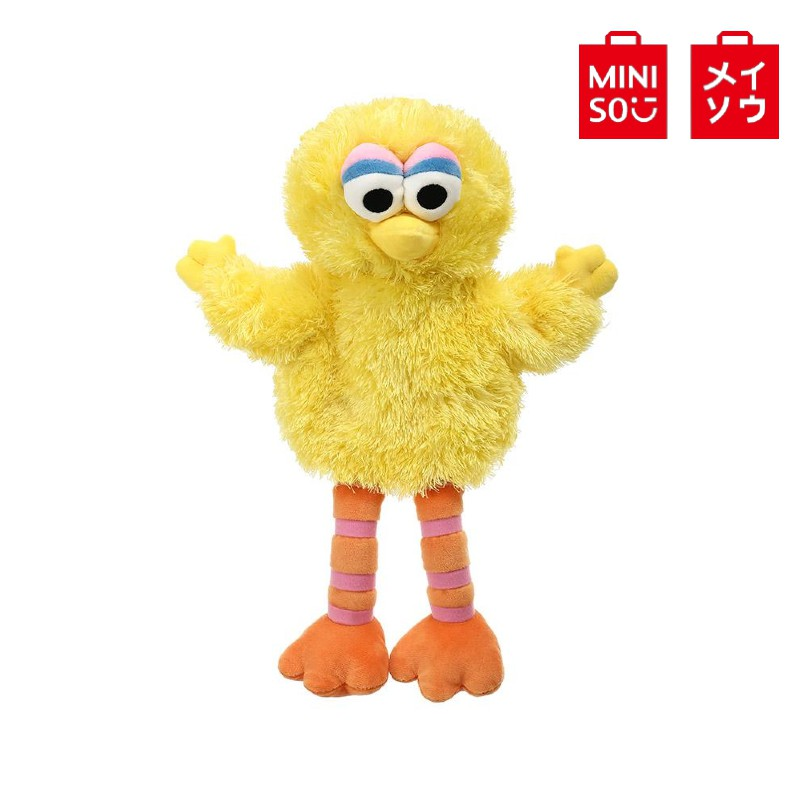【MINISO名創優品】正版芝麻街-手偶(大鳥怪) 芝麻街 大鳥Big Bird