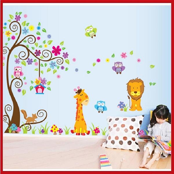 創意壁貼--卡通動物(2張入) DF5210-980【AF01013-980】i-Style居家生活