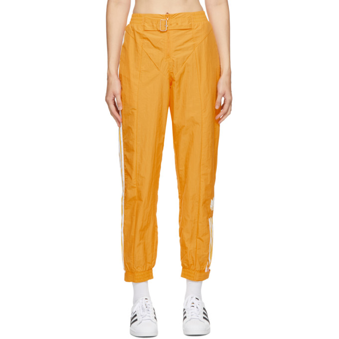 adidas Originals 黄色 Paolina Russo 联名条纹运动裤