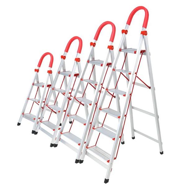 梯子 奧譽鋁合金家用梯子加厚四五步多功能折疊樓梯不銹鋼室內人字梯凳TW【快速出貨八折特惠】