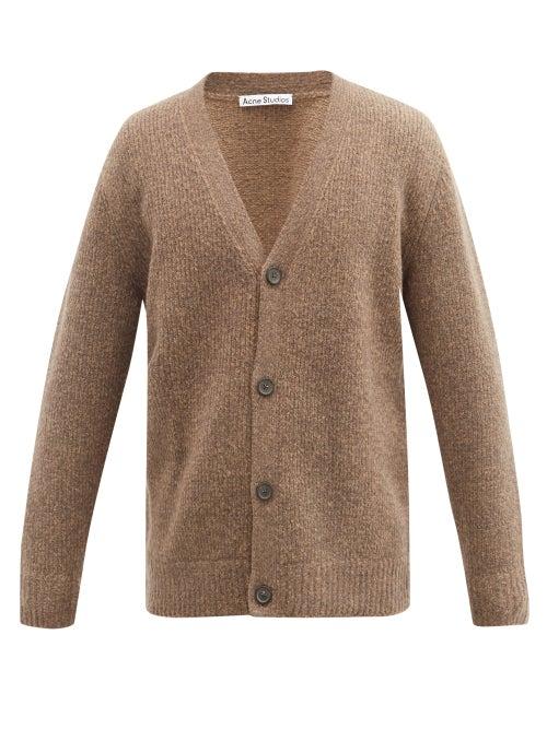 Acne Studios - Kabelo V-neck Wool-blend Cardigan - Mens - Brown