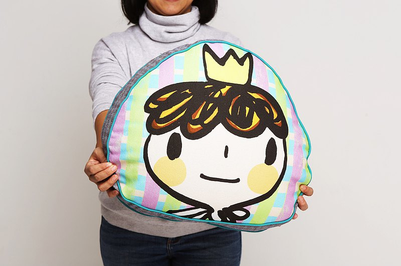 Brut Cake 手工微笑抱枕靠墊(17) 可愛手繪絲網印刷