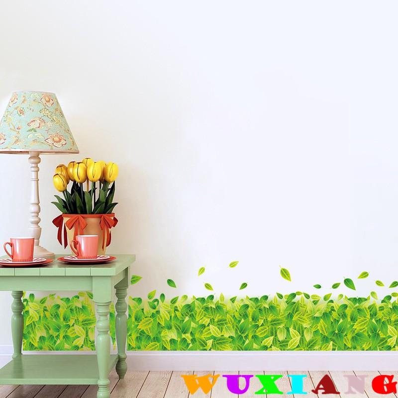 【五象設計】踢腳線087 綠葉草地 踢腳線 腰線貼 DIY 壁貼 立體牆貼 房間裝飾 兒童房裝飾 牆貼紙