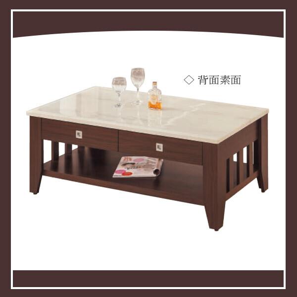 胡桃4尺三線大茶几(仿石紋) 21239326003