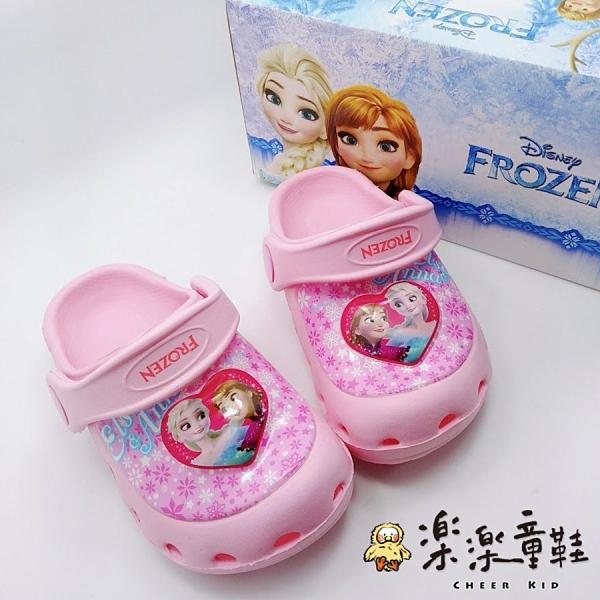 【樂樂童鞋】【台灣製現貨】冰雪奇緣閃燈布希鞋 F019 - 現貨 台灣製 女童鞋 涼鞋 小童涼鞋