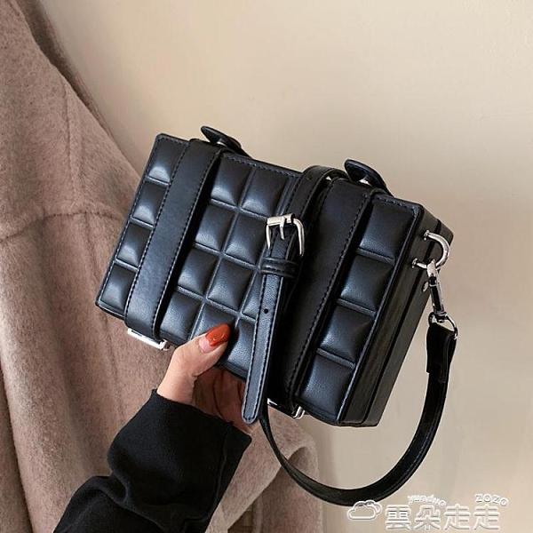盒子包包包包2021新款潮時尚網紅女包洋氣側背斜背包女百搭ins盒子小方包 雲朵走走