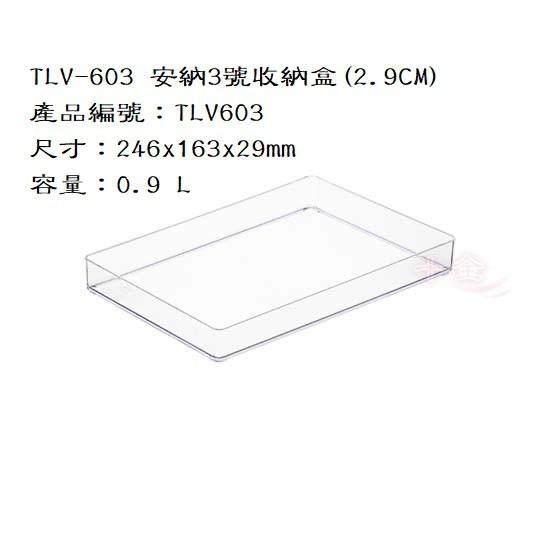 十全∞ <快速出貨>KEYWAY聯府 TLV603 安納3號收納盒(2.9CM)/小物收納籃/文具盒