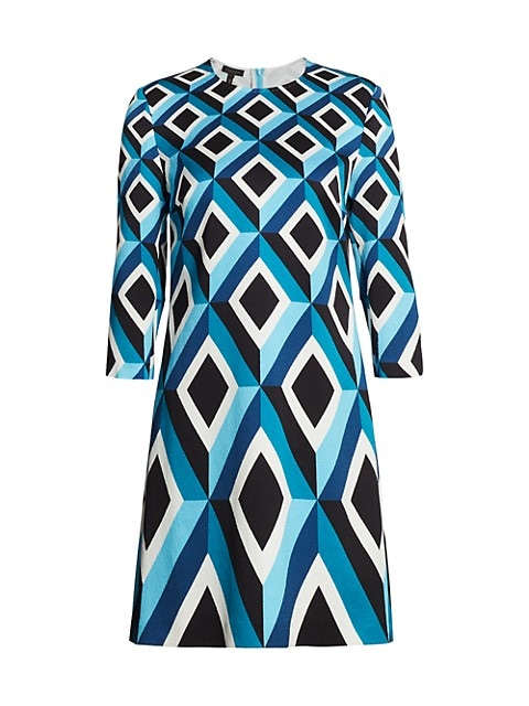 Derhu Abstract Diamond Shift Dress