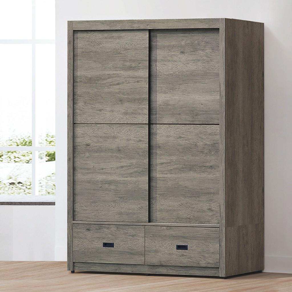 【148.5cm衣櫃-K69-5057】木心板 推門滑門開門 衣服收納 免組裝 【金滿屋】