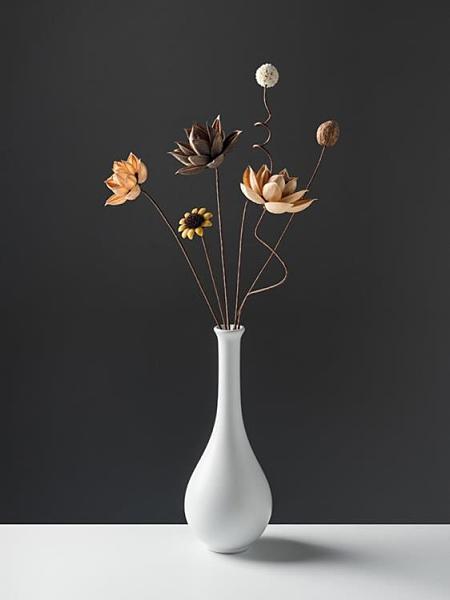 小花瓶擺件陶瓷家居裝飾品客廳插花中式擺件禪意花器【輕奢時代】