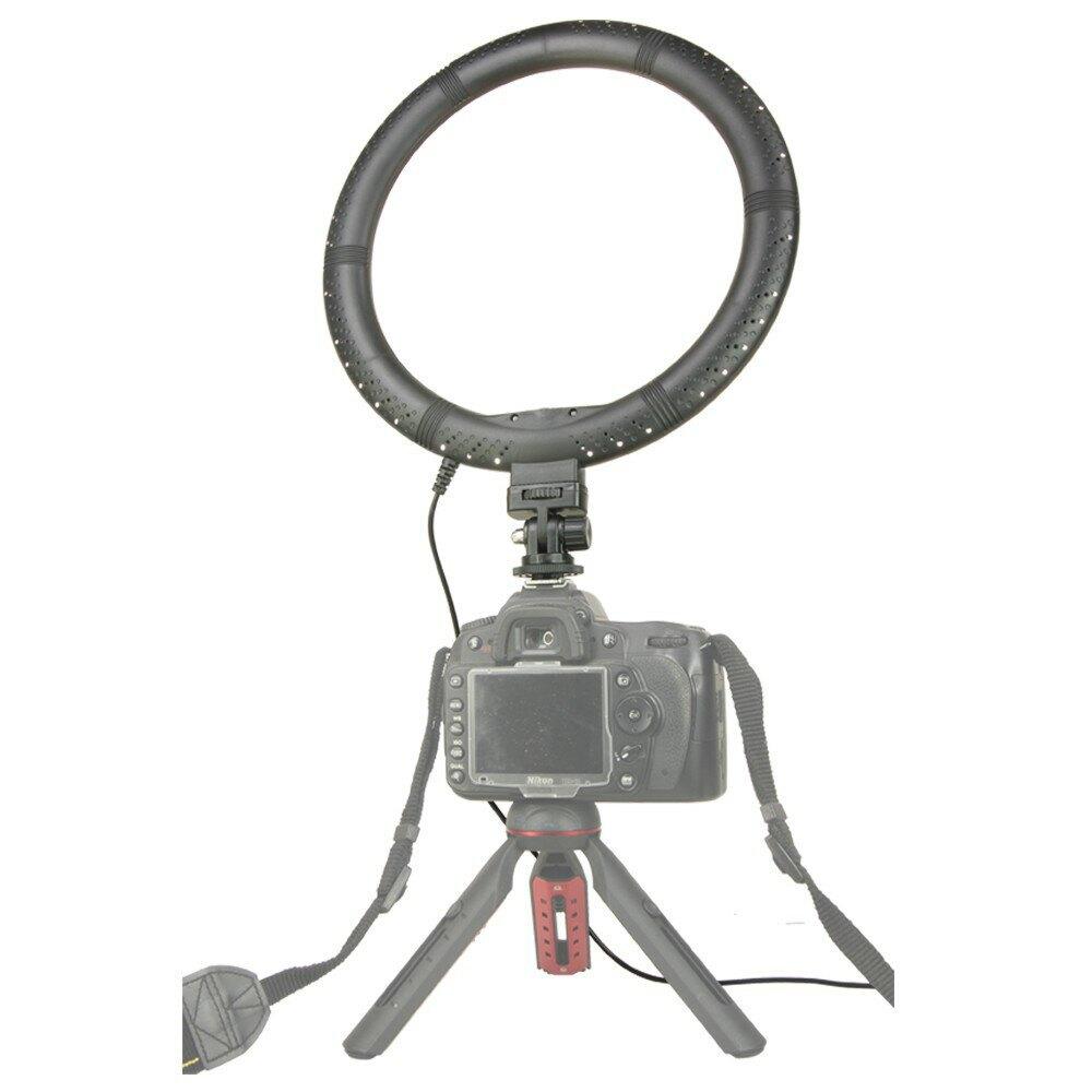 10吋 環形補光燈 (含燈架) 提供USB供電 攜帶方便 燈架可配合環形燈使用 直播化妝補光環形燈