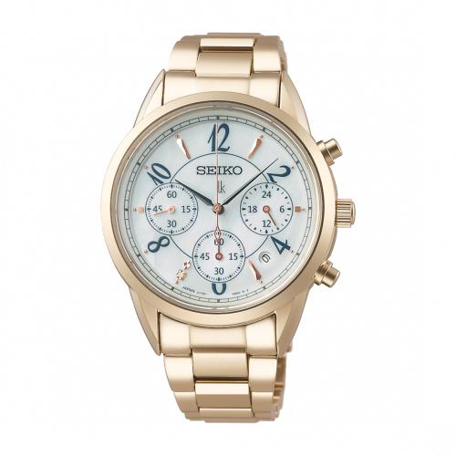 SEIKO LUKIA優雅美鑽太陽能腕錶V175-0EX0U(SSC794J1)