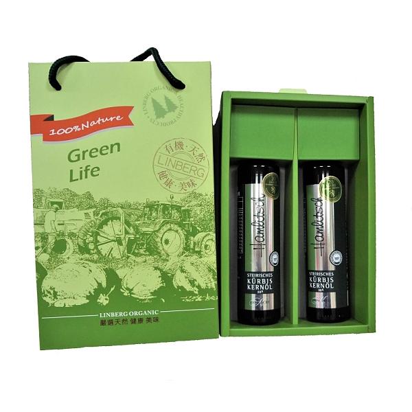 奧地利施蒂利亞-純萃南瓜籽油(250ml/瓶) 2入禮盒組–Hamlitsch