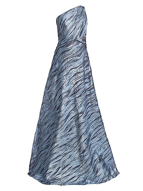 One-Shoulder Pattern Gown