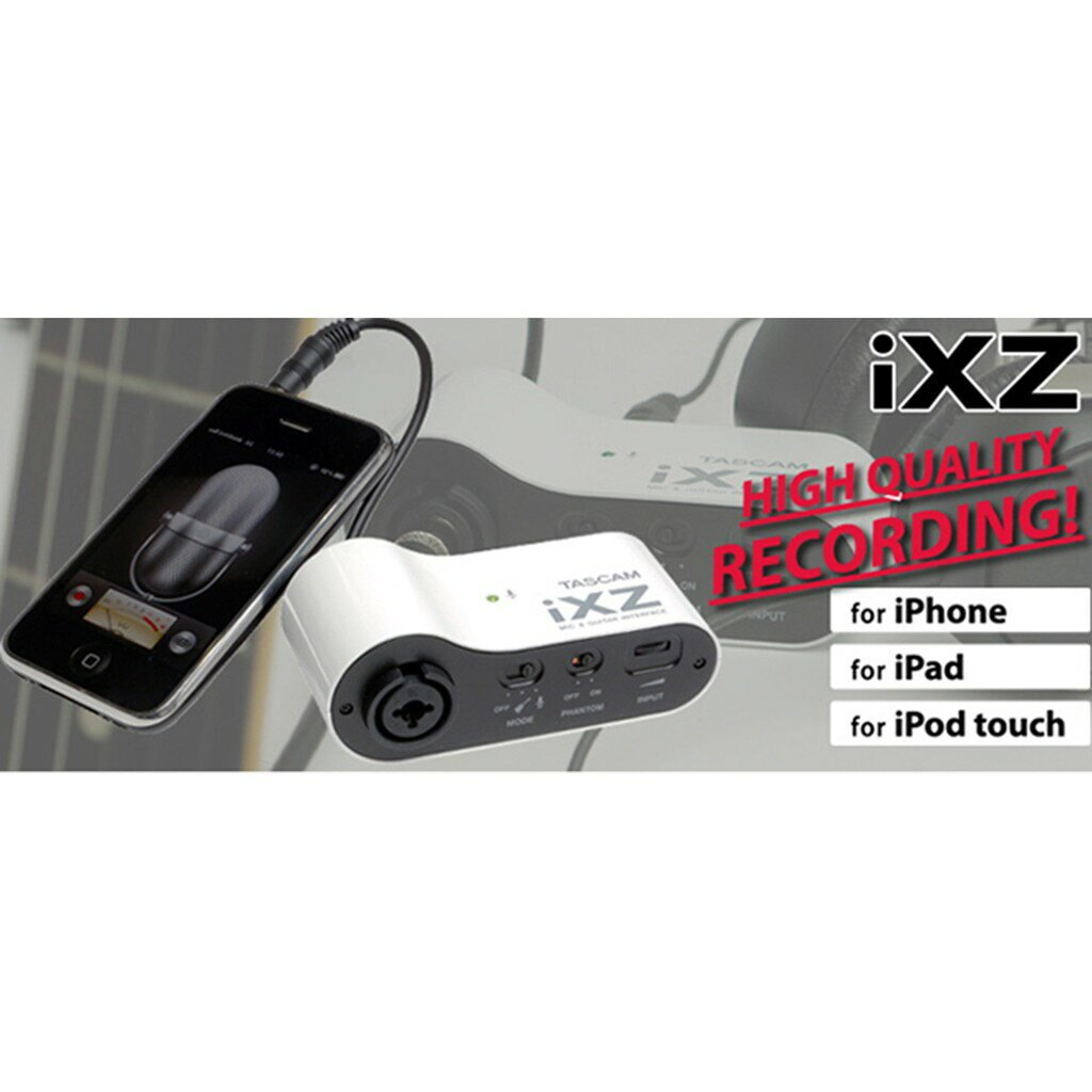 TASCAM  iXZ 麥克風 吉他錄音介面 for ios MAC iPhone iPad XLR