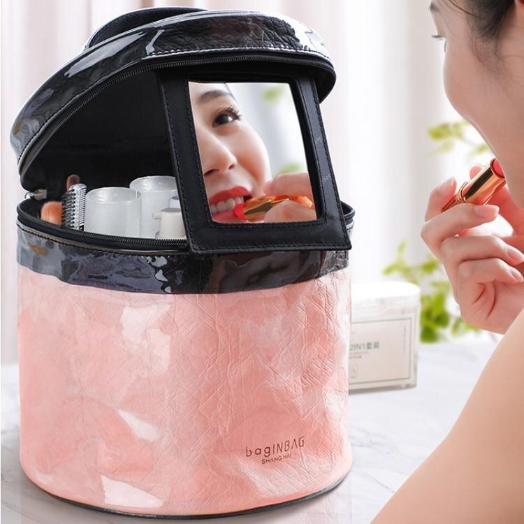 手提化妝箱 化妝包女大容量便攜ins風收納包可愛日系化妝箱手提旅行家用小包
