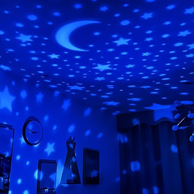星空燈 星空燈投影儀創意夢幻浪漫旋轉兒童床頭臥室睡眠燈光滿天星小夜燈