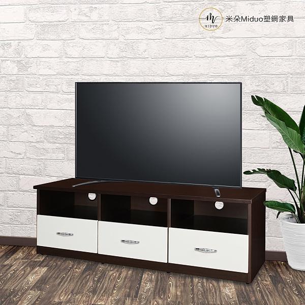 【米朵Miduo】5尺三抽塑鋼電視櫃 防水塑鋼家具