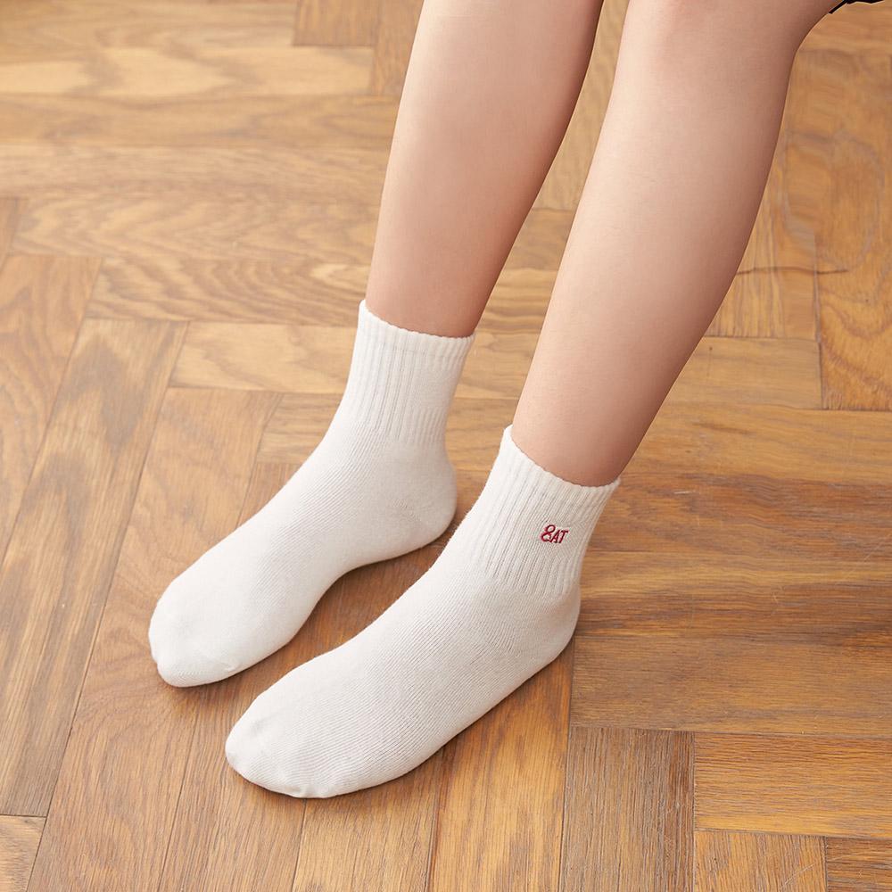 【8:AT 】運動短襪(牙白)