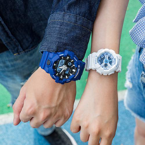 【2.14情人錶 下單抽・富士山杯】現貨 G-SHOCK x BABY-G 湛藍海洋運動情人對錶/藍x白藍 GA-700-2ADR+BA-110BE-7ADR 情侶對錶 樹脂錶帶 熱賣中!