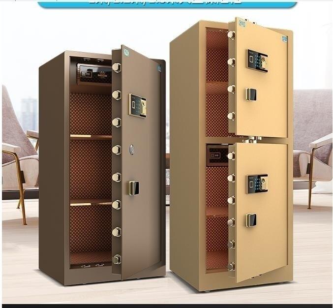 夯貨折扣!保險櫃虎牌保險櫃家用大型1.5米1.2米1m雙門指紋辦公全鋼防盜保管保險箱