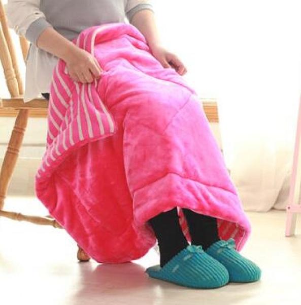 寢居小毛毯 加厚被子單人冬季三層珊瑚絨毯子蓋腿學生棉絨辦公室午睡毯【快速出貨八折下殺】